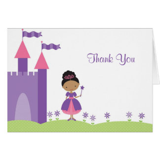 African American Princess Note Card
