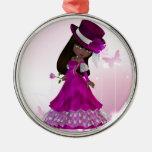 African American Princess Ornament