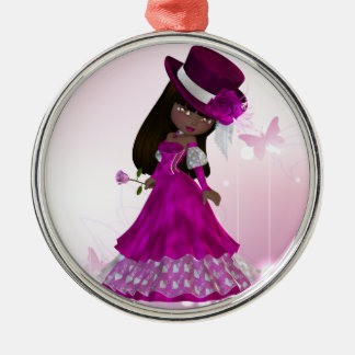 African American Princess Ornament