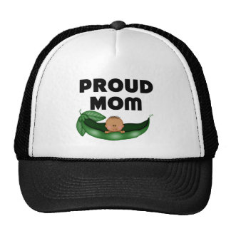 African American Proud Mom (Peapod) Trucker Hats