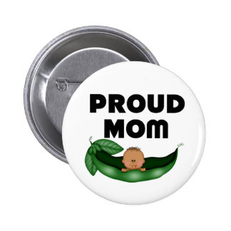 African American Proud Mum (Peapod) Button