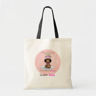 African American Queen - Big Sister Budget Tote Bag