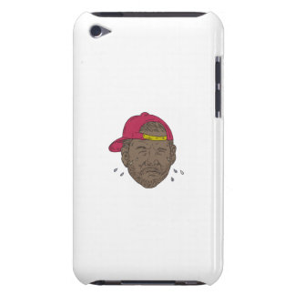 African-American Rapper Crying Drawing Barely There iPod Cases