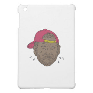 African-American Rapper Crying Drawing iPad Mini Cover