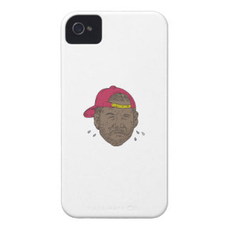 African-American Rapper Crying Drawing iPhone 4 Case-Mate Case