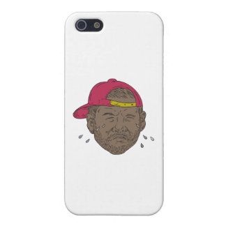 African-American Rapper Crying Drawing iPhone 5 Cases