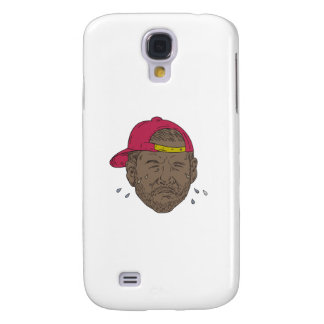 African-American Rapper Crying Drawing Samsung Galaxy S4 Cases