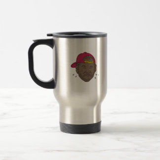 African-American Rapper Crying Drawing Travel Mug