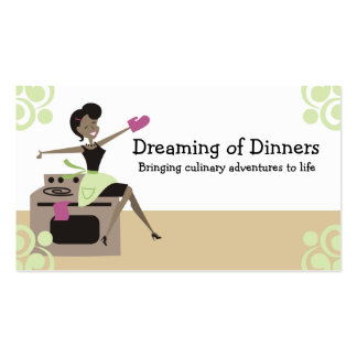 African American retro housewife cooking baking Pack Of Standard Business Cards