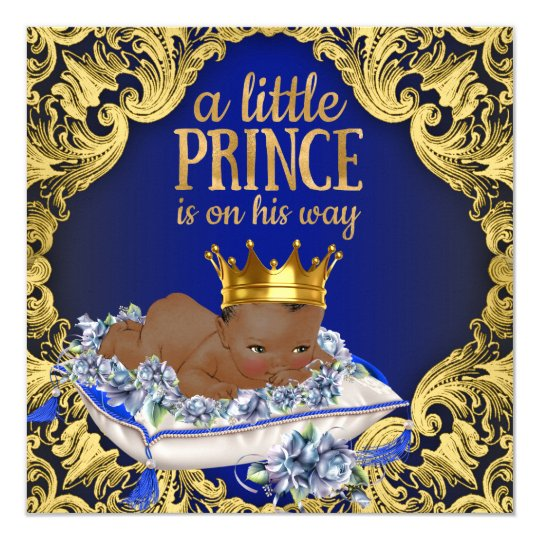African American Royal Prince Baby Shower Card Zazzlecomau