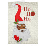 African American Santa Christmas Card