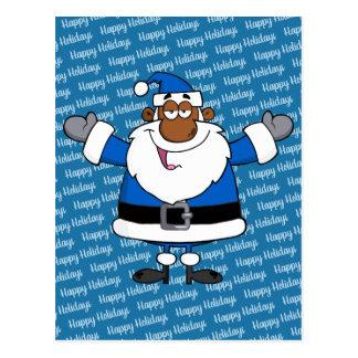 African American Santa Christmas Hanukkah Kwanzaa Postcard