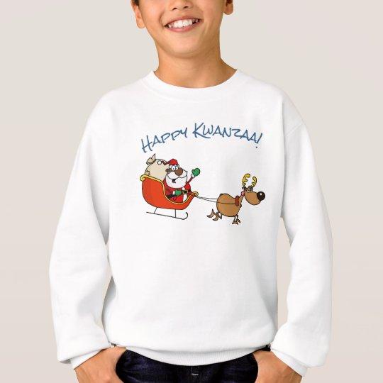 African American Santa Claus Kwanzaa Celebration Sweatshirt