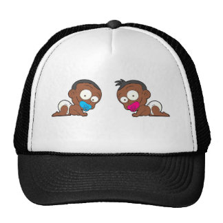 African American Twin Boy & Girl Collection Cap