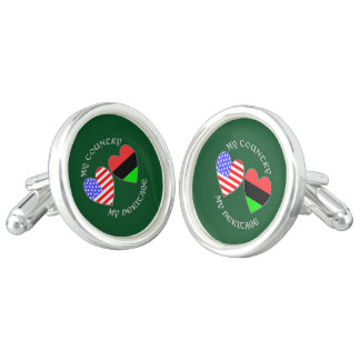 African American USA Country Heritage Cufflinks