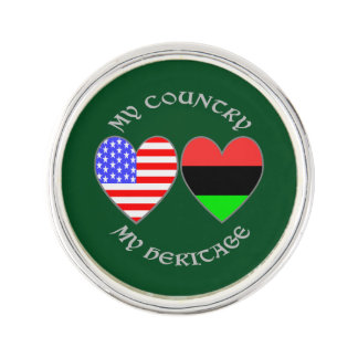 African American USA Country Heritage Lapel Pin