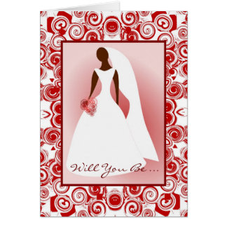 African American-Will You Be ... My Bridemaid Card