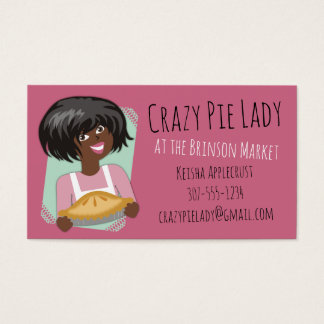 African American woman pie bakery baking Business Card