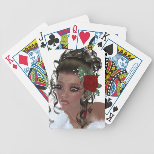 African American Woman Bicycle Poker Deck