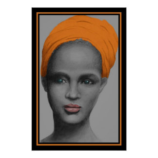 African American Woman Portrait Posters