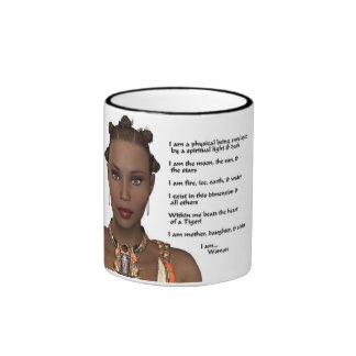 African-American Woman Pride Ringer Coffee Mug