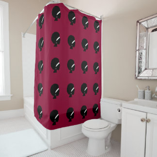 African American Woman Style Pattern Shower Curtain