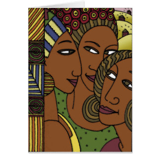 African American women sister friends Card