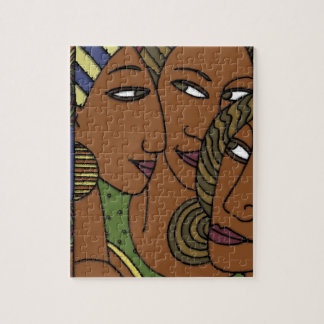 African American women sister friends Jigsaw Puzzle