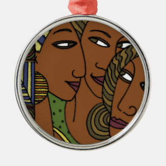 African American women sister friends Silver-Colored Round Decoration