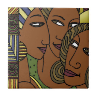 African American women sister friends Tile