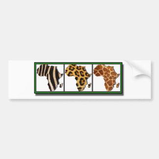 African Animal Collage2 Bumper Sticker