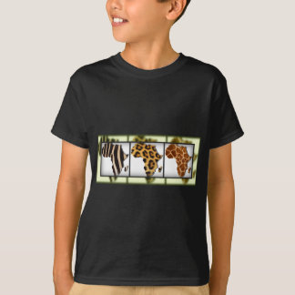 African Animal Collage Shirts