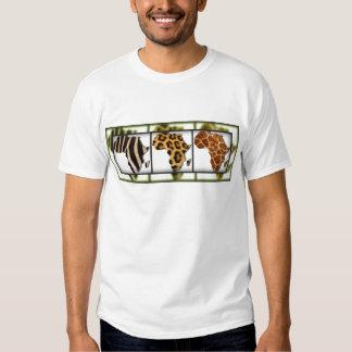 African Animal Collage Tee Shirt