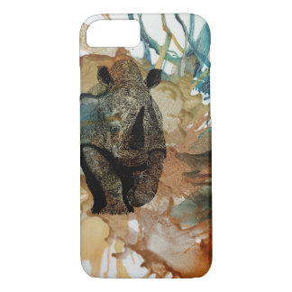 African animal I phone case, Rhino, Safari iPhone 8/7 Case
