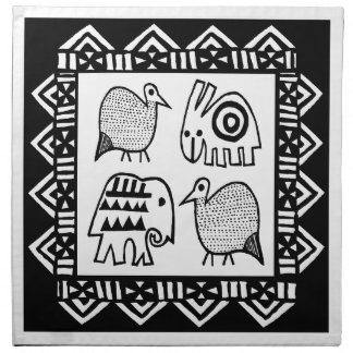 African Animal Spirits Napkin