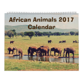 African Animals Calendar