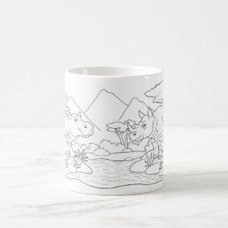 African animals coffee mug