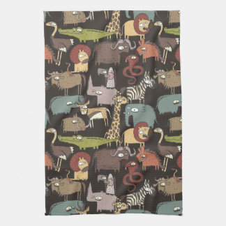 African Animals Pattern Tea Towels