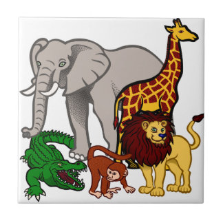 African Animals Tile