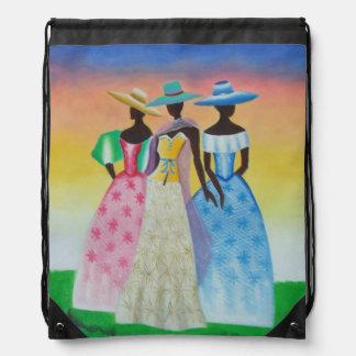 African Art Drawstring Backpack