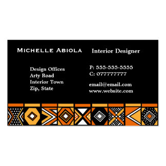 African art pattern pack of standard business cards