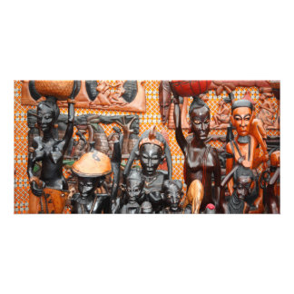 African art photo greeting card