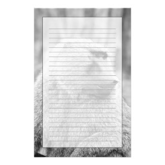 African baboon personalised stationery