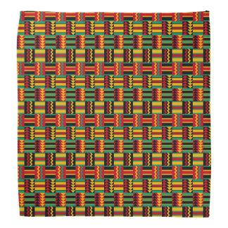 African Basket Weave Pride Red Yellow Green Black Bandana