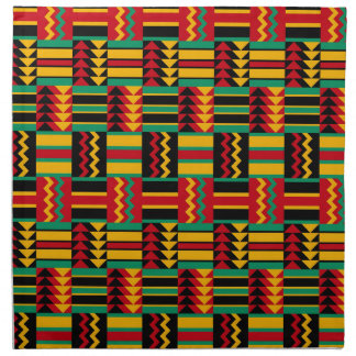 African Basket Weave Pride Red Yellow Green Black Napkin