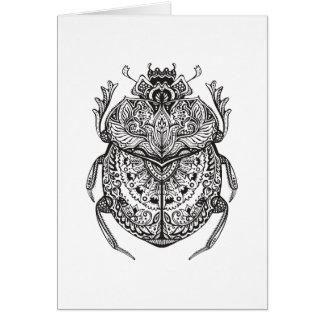 African Beetle Zendoodle Card