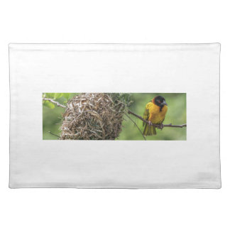 African Bird and Her Grass Nest Placemat