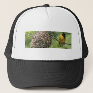 African Bird and Her Grass Nest Trucker Hat