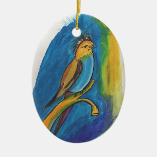 African Bird Ceramic Oval Decoration