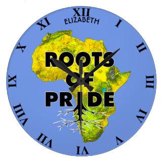 African Black Pride Roots Of Pride Proud Large Clock